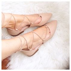 Zara nude lace up tie ballerina ballet flats Never worn, with box. Sold out in stores. Suede material. Fits true to size. Zara Shoes Flats & Loafers