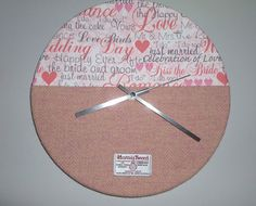 Large HARRIS TWEED Wall Clock - WEDDING Fabric - Handmade to Order in the Outer Hebrides