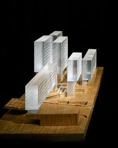 Competition Model for Housing and Office Project in Bjorvika, Oslo by Grafton Architects