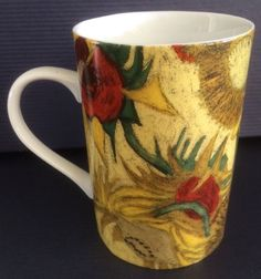 Vincent Van Gogh Museum Coffee Mug Cup - Sunflower Floral Designs