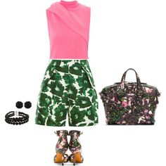 """""""Green pink"""" by ivanyi-krisztina on Polyvore"""