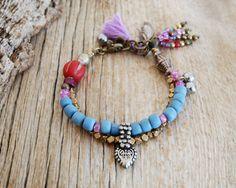 Bohème bracelet  bracelet de gland pour le bracelet  par OmSaha