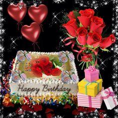 ●❥ʜᴀᴅᴀᴄᴀʀᴏʟɪɴᴀ❥● Happy Birthday Rose, Happy Birthday Wishes Cake, Birthday Roses, Birthday Pins, Birthday Blessings, Happy Birthday Pictures, Happy Birthday Quotes, Birthday Board, Birthday Greetings