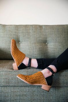 Loeffler Randall Franca cut-out bootie in camel dot.... Somebody please make these Vegan for me!