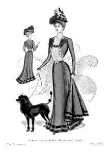 Ladies' Victorian Promenade Gown ~ Free Vintage Image