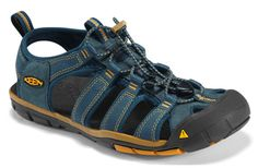 """In a more traditional style, KEEN introduces the Clearwater CNX for men and women next spring. This hybrid sandal and hiker contains a washable polyester webbing upper, PU midsole with a 4 mm drop, and metatomical toe ridge in the footbed. The outsole features multi-directional flex grooves with razor siping for enhanced traction on slick surfaces."" - Gearcaster.com    (I Want!!!!)"