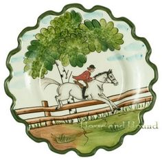 Many months ago, we looked at equestrian china. Since I'm a china-aholic, I thought it was time to revisit this one. While I prefer the old. Equestrian Decor, Equestrian Style, Horse Barns, Horses, Teapot Cookies, Diy Party Decorations, Country Chic, Old Things, Nice Things