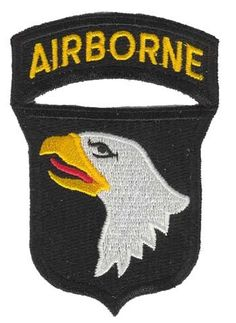 "101st Airborne 3.5"" embroidered patch. Officially licensed by the U.S. Army."