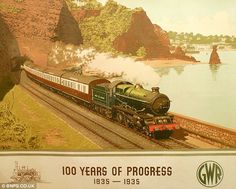 100 years of progress - old train travel posters Posters Uk, Train Posters, Railway Posters, Train Art, By Train, British Travel, Tourism Poster, Old Trains, Train Travel