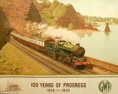 Nostalgia railway poster. Torquay, South Devon. €€€.....€€€€....http://www.pinterest.com/Pats6y/vintage-posters/