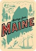 I love Maine.  And this vintage inspired letterpress postcard makes me love it even more.