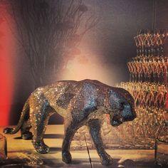 FIAC 2013 - La panthère Swarovski de Richard Orlinslki exposée Soirée Orange