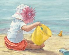 watercolor paintings of children - Google Search