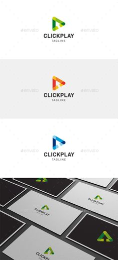 Click And Play Logo — Vector EPS #app #cursor • Available here → https://graphicriver.net/item/click-and-play-logo/18202731?ref=pxcr