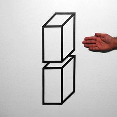 Optical Illusions Created With Just Masking Tape - DesignTAXI.com
