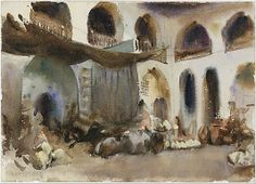 Market Place  John Singer Sargent  (American, Florence 1856–1925 London)  Date:    1890s  Medium:    Watercolor, gouache, and graphite on white wove paper  Dimensions:      10 x 13 9/16 in. (25.4 x 34.4 cm)  MET   NY, NY
