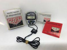 HEUER Microsplit 1000, OVP, Bedienungsanleitung und Garantiekarte von 1982    eBay World Leaders, Vintage Watches, Casio Watch, Ebay, Counter, Tutorials, Cards, Vintage Clocks