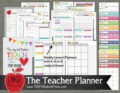Enseignant planificateur imprimable Set par PolkaDotPosiePrint
