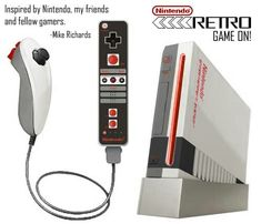 Nintendo Retro by Mike Richards Online Video Games, Retro Video Games, Playstation, Mike Richards, Pc Console, Custom Consoles, School Videos, Old Games, Comic Games