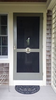 Wooden Screen Storm Door 041 Custom Screen Doors, Wooden Screen, Adirondack Chairs, Entry Doors, Shutters, Interior And Exterior, New Homes, Mirror, Gallery