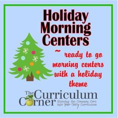 Holiday Morning Centers for your kindergarten, first, second and third grade classrooms.  Includes Fry word games (at 3 levels), a math game (at different levels), a singular/plural noun sort and a letter to Santa template.  All FREE from www.thecurriculumcorner.com.