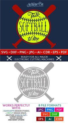 Talk Softball to Me Svg Talk Softball to Me Cut Files