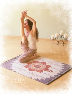 This 600 dollar Lotus Mandala rug - for use with meditation bench - note to self find a more affordable version