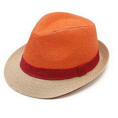 De mujeres y hombres de las vacaciones de paja de color Jazz Hat Sombreros de moda – EUR € 14.84