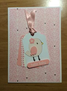 Cricut Create a Critter new baby card