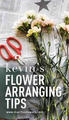 Kevin's Flower-Arranging Tips   Martha Stewart Living - Spring flowers from Martha's garden, arranged by Kevin, provide a refresher course in the elements of design: color, structure, and texture.