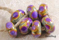 Purple Dragon  Handmade Lampwork Glass Beads  by carolinebeadbug, $16.00