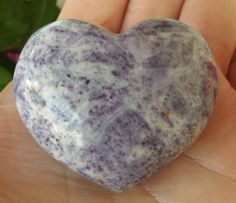 PUFFY CHAROITE HEART STONE REIKI CLAIRVOYANCE STONE OF TRANSFORMATION