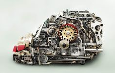 The fascinating innards of old, mechanical calculators »ufunk » #gears #machine #parts