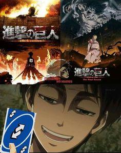 Anime Meme, Funny Anime Pics, Attack On Titan Comic, Attack On Titan Fanart, Erin Attack On Titan, Fanarts Anime, Manga Anime, Aot Anime, Japan Expo