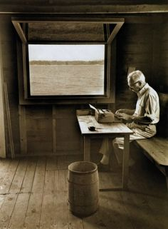 E.B. White in his boat house + writing space in Allen Cove, Maine. Now THIS is the way to do it.