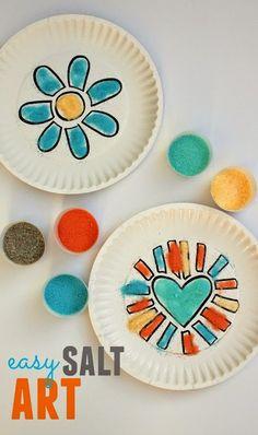 Easy colored salt art!