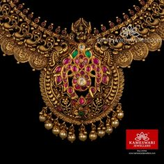 Indian Wedding Jewelry, Indian Jewelry, Pendant Jewelry, Gold Jewelry, Jewellery, Gold Ornaments, Emerald Necklace, Necklace Online, Short Necklace