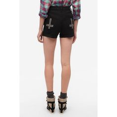 BDG High-Rise Studded Cheeky Short ($59) ❤ liked on Polyvore