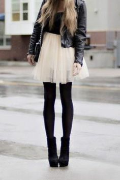Leather and a ballet tutu