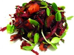 Beetroot and peach salad