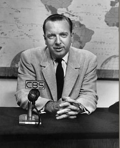 """04/16/1962 - Walter Cronkite began anchoring """"The CBS Evening News"""". """"the most trusted man in America"""""""