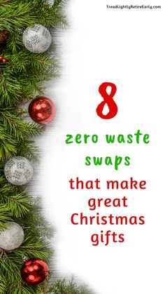 Zero waste Christmas ideas. Great presents for people wanting to make their life more sustainable, plastic free. #reducereuserecycle #zerowaste #christmaspresents #zerowastechristmas