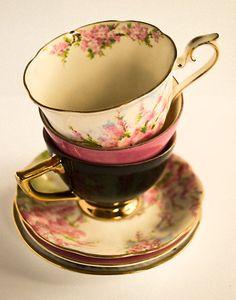 Stackeroo  Tea-Cups by Kristi Robertson