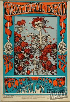 Grateful Dead | Art by Stanley Mouse & Alton Kelley | Sep 16, 1966 - Sep 17, 1966 | Venue: Avalon Ballroom (San Francisco, CA)