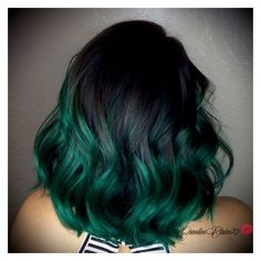 Check Out Our , Blue On Black Hair, 24 Inspiring Teal Hair Ideas to Stand Out In the Crowd, Hairstyles Blue Ombre Hair Color Creative Emerald Green Ombré Hair. Teal Hair Color, Green Hair Dye, Dark Green Hair, Grey Ombre Hair, Hair Color Asian, Green Hair Colors, Ombre Green, Dark Hair, Blue Hair