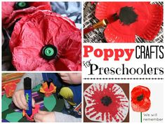 Remembrance Day Activities - Red Ted Art A fantastic set of Remembrance Day Activities. Grouped by age – you will find Poppy Crafts for Preschoolers Poppy Craft For Kids, Fun Crafts For Kids, Toddler Crafts, Fall Crafts, Projects For Kids, Adult Crafts, Kids Fun, Memorial Day Activities, Remembrance Day Activities