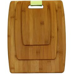Upgrade your kitchenware in style with this three-piece bamboo cutting board set. The three different sizes mean youll always have a board ready for precisely what you need. Each boards light design makes it easy to use without sacrificing durability.