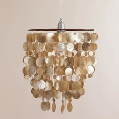 Pendant Lights Under $100: Capiz Hanging Pendant Lantern