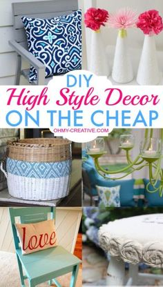 Superb Create DIY High Style Decor On The Cheap Givng Your Home A Decorator Look! |
