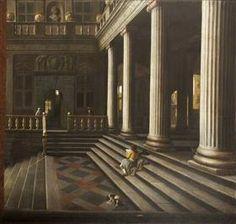 Une perspective de la cour d'une maison - Samuel Dirksz van Hoogstraten